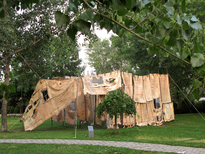 Social Dress New Orleans - 730 days after (installation view, Socrates Sculpture Park)