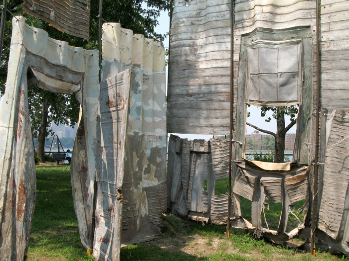 Social Dress New Orleans - 730 days after (interior view, Socrates Sculpture Park)