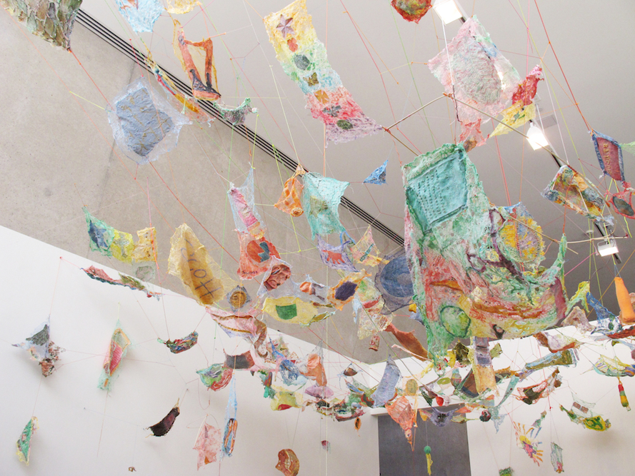 Social Dress St. Louis: Learning and Unlearning, 2012. Ceiling view, Front Room, Contemporary Art Museum St. Louis