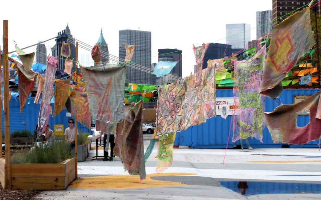 Social Dress Lower East Side – Material Memories, 2014. Installation at Pier 42