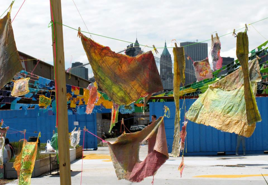 Social Dress Lower East Side – Material Memories, 2014. Installation at Pier 42