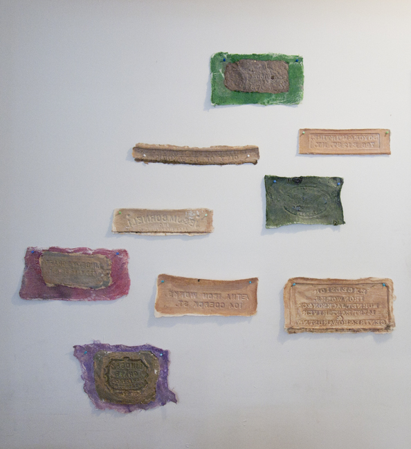 Metabolic Morphology - Ironworks of Soho, 2014, latex, pigment, cheesecloth, dimensions variable