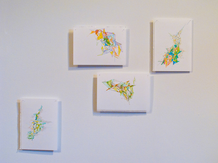 Untitled (drawings), 2011, pen and marker on paper, 17 x 22 cm
