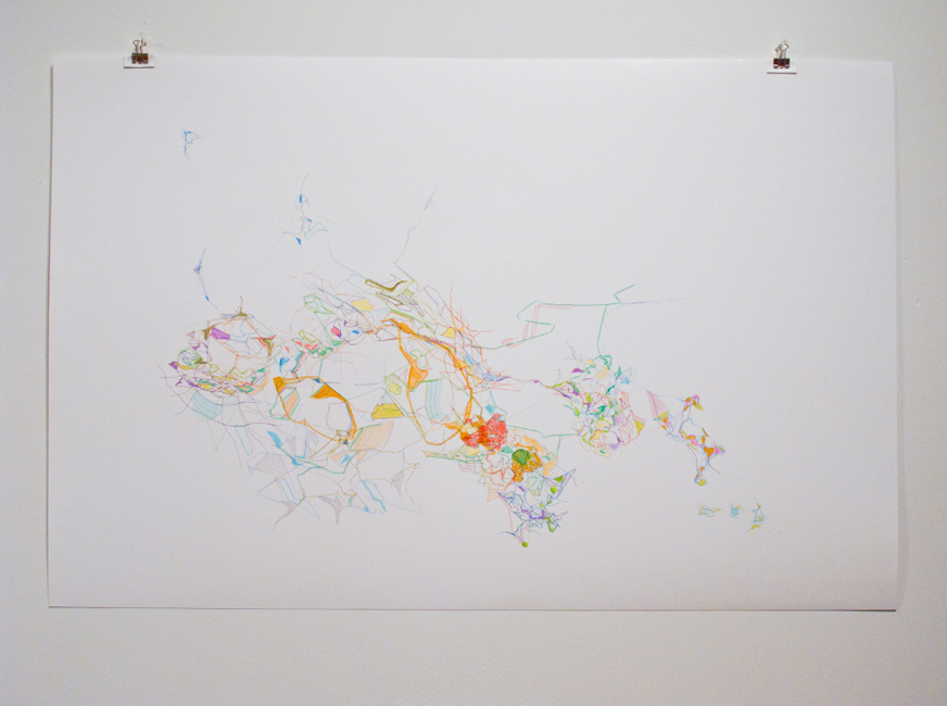 Untitled, 2011, pen and marker on paper, 78 x 58 cm